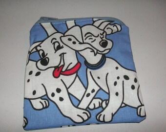 101 Dalmations Dalmatian handmade fabric coin change purse card holder