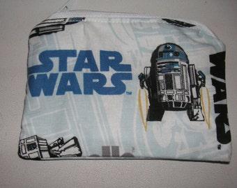 Star Wars R2D2 cartoons handmade fabric coin change purse zipper pouch