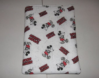 "Mickey Mouse handmade zipper fabric 7"" 8"" mini ipad Galaxy Kindle Fire Nexus case sleeve cover pouch tablet"