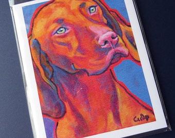 VIZSLA Dog 8x10 Signed Art Print from Painting by Lynn Culp