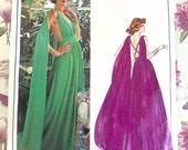 Vintage 1970s Emanuel Ungaro Evening Dress Pattern - Vogue 1135