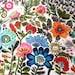 Bohemian Original Bird Flower Painting 40 x 30 x 1.5  Karen Fields