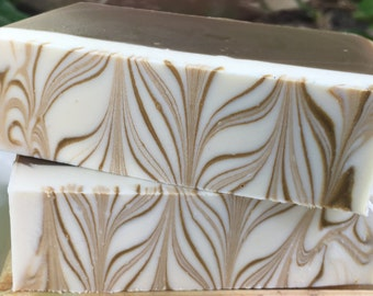Caramel Coffee Handmade Cold Processed Soap with Cocoa butter