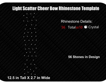 Light Scatter Rhinestone Cheer Bow Template INSTANT FILE DOWNLOAD