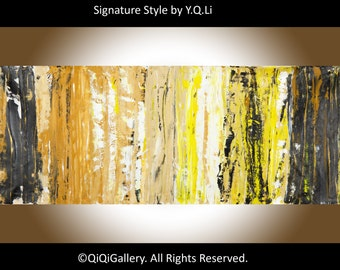 "Painting 60"" acrylic  large Abstract Painting hand paint on canvas Wall art wall decor home office wall decor ""Treasure Hunt"" by qiqigallery"