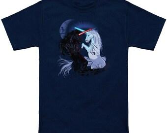 Star Wars with Unicorns ringspun cotton Graphic t-shirt