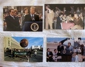 Four Vintage Jimmy Carter, President, Glossy Postcards, Photographs, Unused, 1970s
