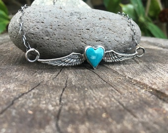 Sterling Silver Heart With Wings