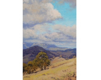 ORIGINAL LANDSCAPE PAINTING by award winning artist Graham Gercken