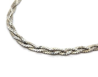 Sterling Silver Bracelet - Braided Chain
