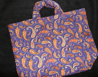 Shopping bag - Quilted - blue paisley