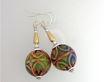 Summer Sale Mirage Bead Earrings from Kate D-W's Like Wow Collection. Light Color Changing