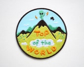 Top of the World Iron On Patch