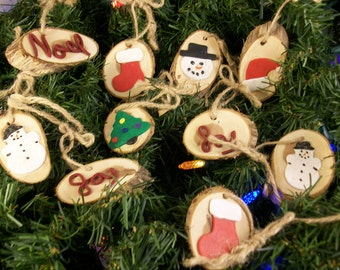 Primitive Christmas Gift Tags or Ornaments