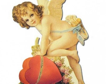 Vintage Easel Back Valentine Card Made In USA 1990s Angel Heart  CD 209