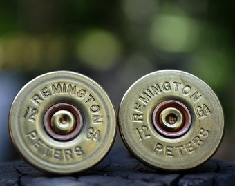 Wedding cuff links shotgun cuff links bullet cufflinks Remington Peters 12 gauge wedding cuff links gold cuff links bullet cufflinks
