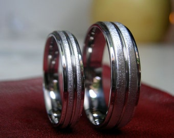 Ring Set, Titanium Wedding Bands, Wedding Rings, Matching Set