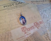 RESERVED for Heather - Sterling and porcelain pendant Our Lady of Mt. Carmel