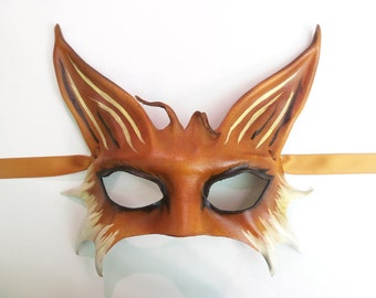 Leather Fox Mask middle sized half face fox mask a little more delicate than my regular fox mask