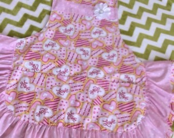 Aprons-ladies aprons-ruffled aprons-lined aprons-one size fits most aprons