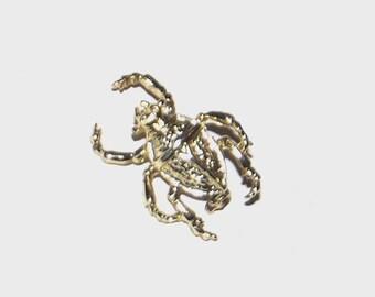 1980s vintage pin / 80s vintage brooch / Moveable Beetle Brooch