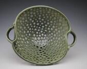 Green Colander or Fruit Bowl
