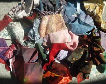 Kimono Scrap Bag Vintage Silk