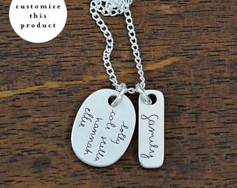 custom family necklace