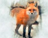 10x8 Fox Art - Fox Picture - Fox Artwork - Fox Painting - Fox Decor - Fox Print - Fox Art Print - Mothers Day Gift - Fox Lover Art - Fox Pic