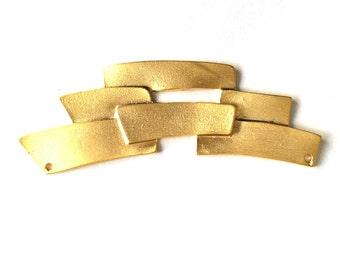 1 pc -Matte 22K Gold Plated Base Necklace Bar- 100x30mm (026-008GP)