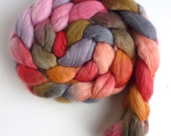 Finn Wool Roving - Hand Painted Spinning or Felting Fiber, Take My Hand