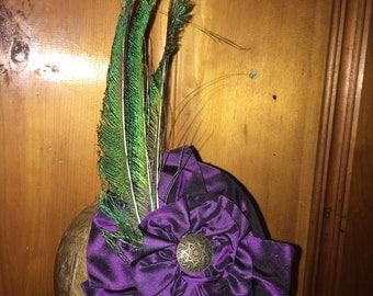 Dark Purple Silk Taffeta Fascinator