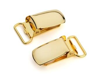 "50pcs - 5/8"" Suspender Clip - Gold - Free Shipping (SUSPENDER CLIP SPN-105)"
