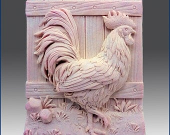 Beautiful Hen - Detail of high relief sculpture - Silicone Soap/plaster/clay Mold - buy from original designer and maker