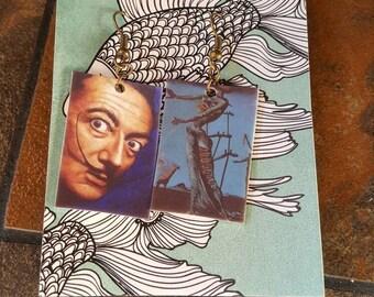 Art History Salvador Dali Surrealism Earrings