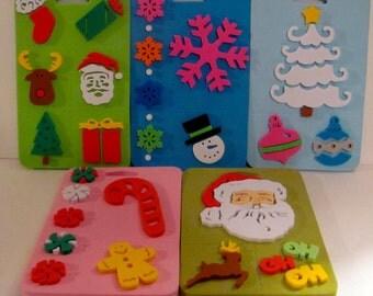 Five Christmas Stamps