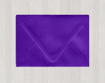 10 A9 Envelopes - Euro Flap - Purple - DIY Invitations - Envelopes for Weddings and Other Events