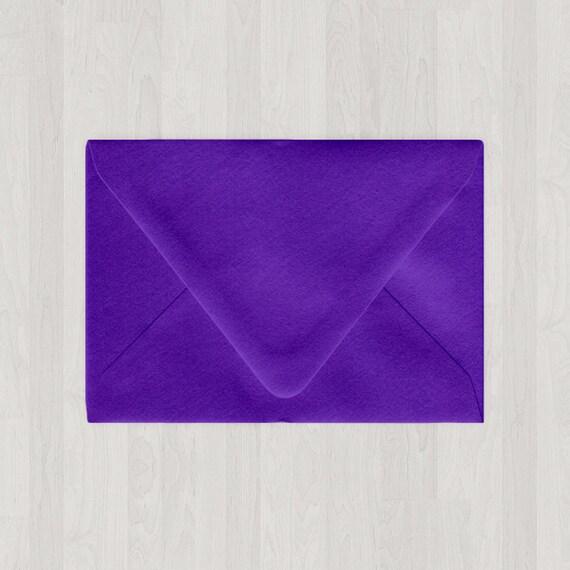 10 a7 envelopes euro flap purple diy invitations