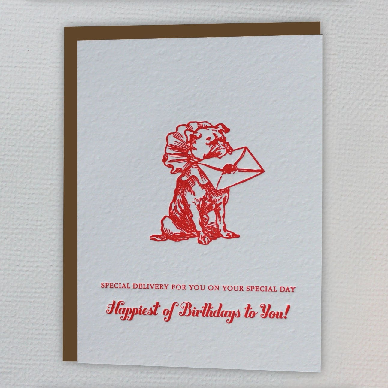 Special Delivery... Happy Birthday Letterpress Greeting Card