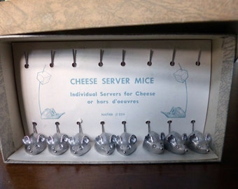 Vintage Napier Cheese Mice - Boxed Set of Eight (8)