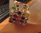Colorful wide  bracelet