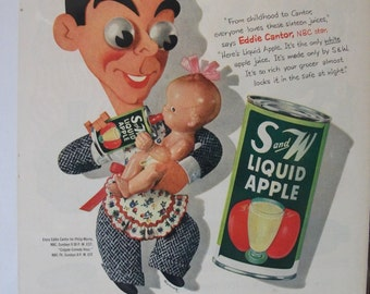 124 S and W juices  Ad  - 1952