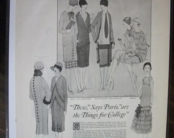 FAS-L 117  College Fashion Ad - August 1925