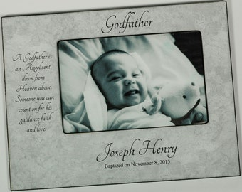 personalized godparent frame godmother frame godfather frame custom godparent frame baptism frame godparent gift