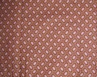 Amy Butler Charm Dotty Bean Pink Brown fabric | Cotton Quilting fabric
