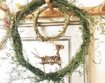 Set of 3 Primitive Twig Figures, Hunting Magic, Prehistoric Woven Deer, Ornament, Archeaological Deer, Antelope, Huntsman's Talisman, Set C