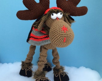 CLAUDE THE MOOSE Pdf Crochet Pattern