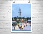 San Francisco Photography, North Beach, Christmas, California, Winter, Ice Skating, Fine Art Photograph