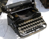 Rare Antique German Erika Model 1 Folding Portable Typewriter with Case 1912