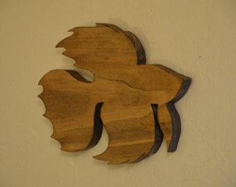 Wooden Beta Fish
